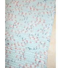 Vászon rongyszőnyeg kék, piros 70 x 150 cm