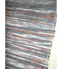 Vászon rongyszőnyeg szürke, piros 70 x 150 cm
