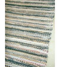 Vászon rongyszőnyeg szürke, barna 75 x 160 cm