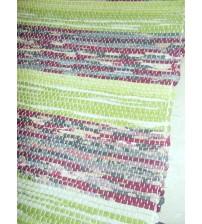 Vászon rongyszőnyeg zöld, bordó 70 x 200 cm