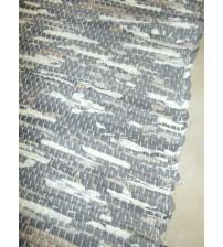 Vászon rongyszőnyeg szürke, barna, nyers 70 x 200 cm