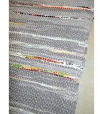 Vászon rongyszőnyeg szürke, színes 70 x 200 cm