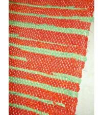 Vászon rongyszőnyeg piros, zöld 70 x 200 cm