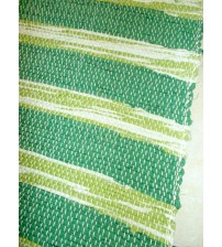 Vászon rongyszőnyeg zöld 70 x 200 cm