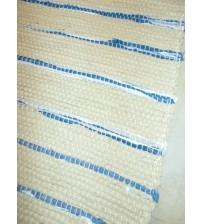 Vászon rongyszőnyeg nyers, kék 70 x 200 cm