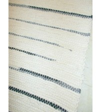 Vászon rongyszőnyeg nyers, szürke 70 x 200 cm