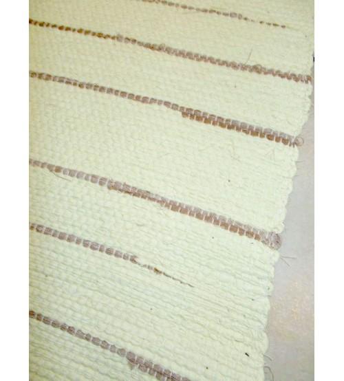 Vászon rongyszőnyeg sárga, barna 70 x 150 cm