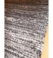 Vászon rongyszőnyeg szürke 75 x 135 cm