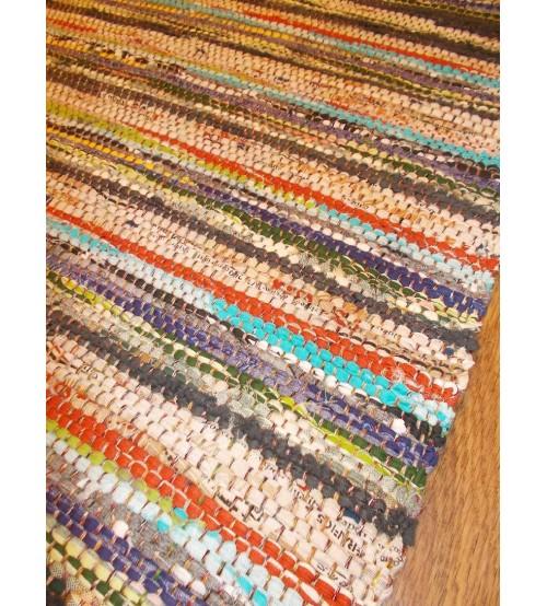 Vászon rongyszőnyeg színes 70 x 150 cm