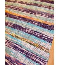 Vászon rongyszőnyeg kék 70 x 100 cm