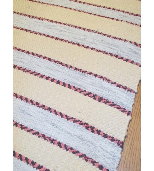 Pamut rongyszőnyeg nyers, szürke 65 x 110 cm