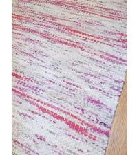 Vászon rongyszőnyeg szürke, lila 65 x 165 cm