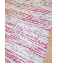 Vászon rongyszőnyeg szürke, lila 70 x 165 cm