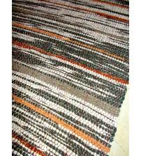 Vászon rongyszőnyeg szürke, barna 70 x 200 cm