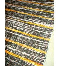 Vászon rongyszőnyeg szürke, sárga 70 x 100 cm