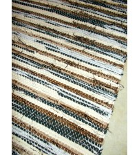 Vászon rongyszőnyeg barna, szürke 70 x 100 cm