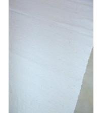 Vászon rongyszőnyeg fehér 70 x 155 cm