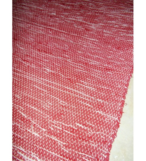 Vászon rongyszőnyeg bordó 70 x 140 cm