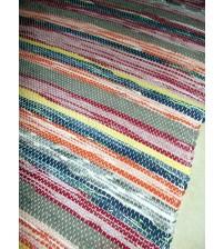 Vászon rongyszőnyeg színes 70 x 140 cm