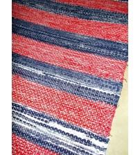 Vászon rongyszőnyeg piros, kék 75 x 200 cm