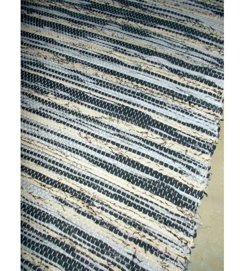 Vászon rongyszőnyeg szürke, nyers 70 x 150 cm