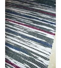 Vászon rongyszőnyeg szürke, lila, kék 70 x 100 cm