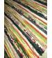Vászon rongyszőnyeg színes 70 x 100 cm