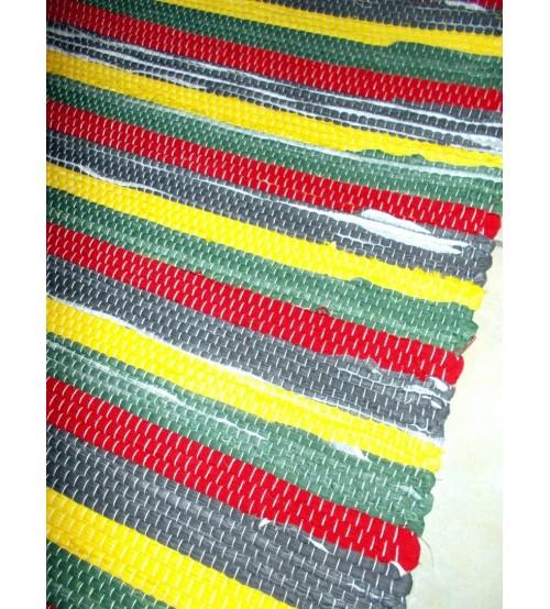 Vászon rongyszőnyeg színes 60 x 220 cm