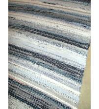 Vászon rongyszőnyeg kék, szürke 70 x 100 cm