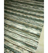 Vászon rongyszőnyeg zöld, barna 65 x 135 cm