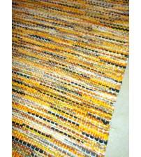 Vászon rongyszőnyeg sárga, fekete 75 x 230 cm
