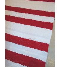 Vászon rongyszőnyeg piros, fehér 70 x 135 cm