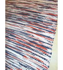 Vászon rongyszőnyeg piros, kék, fehér 70 x 150 cm