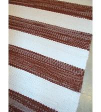 Vászon rongyszőnyeg barna, fehér 70 x 170 cm