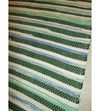 Vászon rongyszőnyeg zöld, nyers 70 x 100 cm