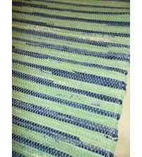Vászon rongyszőnyeg zöld, kék 70 x 150 cm