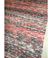 Vászon rongyszőnyeg piros, fekete 70 x 210 cm