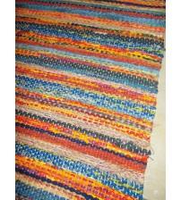 Vászon rongyszőnyeg színes 75 x 170 cm