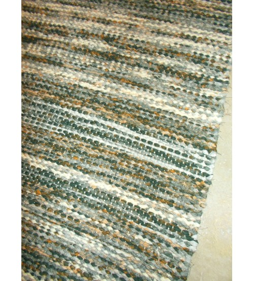 Vászon rongyszőnyeg zöld, barna 70 x 160 cm