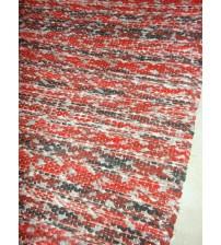 Vászon rongyszőnyeg piros, fekete 75 x 170 cm
