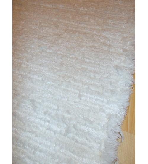 Zsenilia rongyszőnyeg  fehér 90 x 200 cm