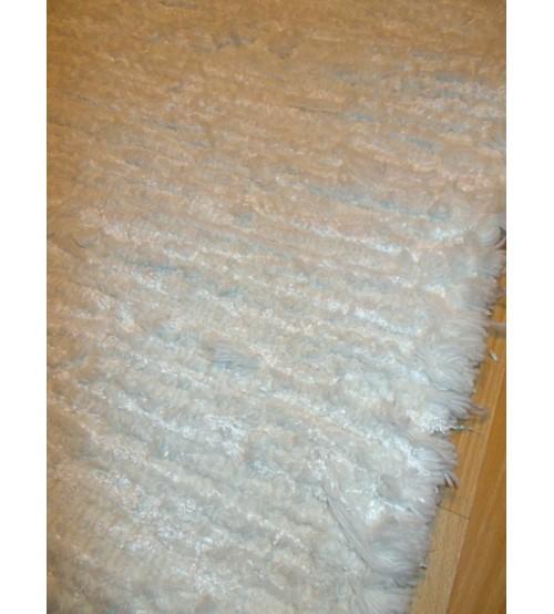 Zsenilia rongyszőnyeg  fehér 90 x 135 cm