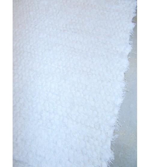 Bolyhos rongyszőnyeg fehér 70 x 150 cm