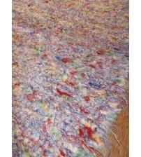 Bolyhos rongyszőnyeg színes 75 x 120 cm