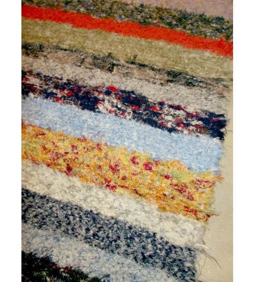 Bolyhos rongyszőnyeg színes 80 x 195 cm