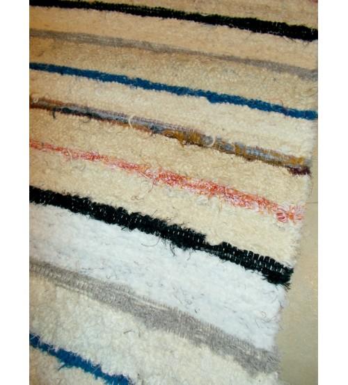 Bolyhos rongyszőnyeg nyers, színes 70 x 230 cm