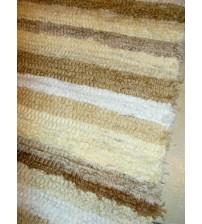 Bolyhos rongyszőnyeg barna, fehér 75 x 100 cm