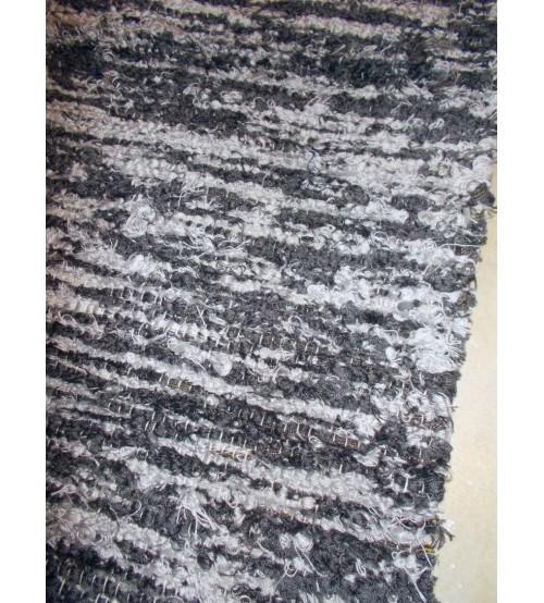 Bolyhos rongyszőnyeg szürke 75 x 100 cm