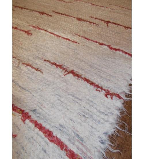 Bolyhos rongyszőnyeg nyers, piros 75 x 100 cm