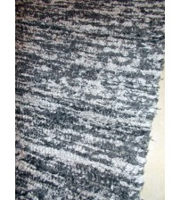 Bolyhos rongyszőnyeg szürke 75 x 150 cm